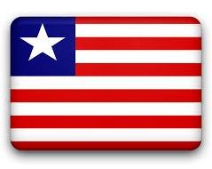 LIBERIA FLAG SQUARE